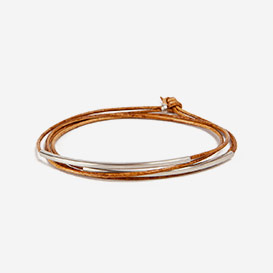Leather Bracelet Tube Tingval rhodanized Cognac>     </noscript> </div>          <div class=