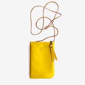 Walk & Talk Yellow Handy-Tasche aus Leder>     </noscript> </div>          <div class=