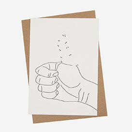 Thumbs Up Letterpress Postcard>     </noscript> </div>          <div class=