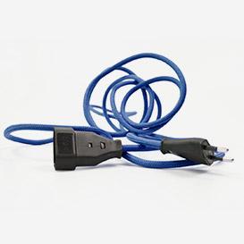 Verlängerungskabel Classic Blue – mit Textilkabel>     </noscript> </div>          <div class=