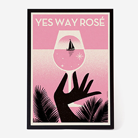 Yes Way Rosé Art Print - Kunstdruck>     </noscript> </div>          <div class=
