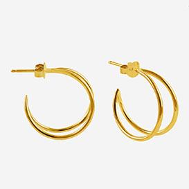 Lunar Creole Small Earrings - silver 925 gold-plated>     </noscript> </div>          <div class=