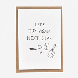 Let's Try Again Next Year Letterpress Postcard>     </noscript> </div>          <div class=