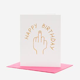 Happy Birthday Middle Finger Grußkarte>     </noscript> </div>          <div class=