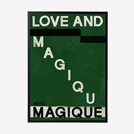 Love and Magique Green Art Print - A2>     </noscript> </div>          <div class=