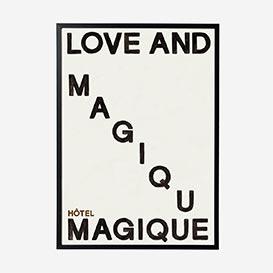 Love and Magique Black Art Print - A2>     </noscript> </div>          <div class=