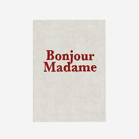 Bonjour Madame Greeting Card>     </noscript> </div>          <div class=