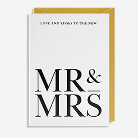 Mr & Mrs Love and Kisses Greeting Card>     </noscript> </div>          <div class=