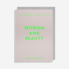 Wisdom And Beauty Birthday Grußkarte>     </noscript> </div>          <div class=