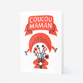 Coucou Maman Letterpress Greeting Card>     </noscript> </div>          <div class=