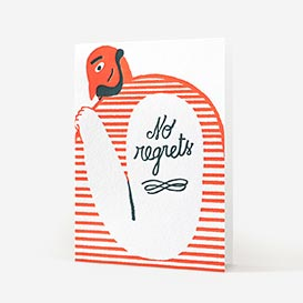 No Regrets Letterpress Greeting Card>     </noscript> </div>          <div class=