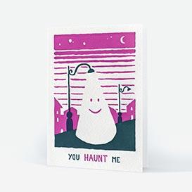 You Haunt Me Letterpress Greeting Card>     </noscript> </div>          <div class=