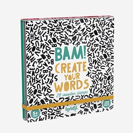 Bam! Create Your Words - Set with 28 wooden stamps>     </noscript> </div>          <div class=