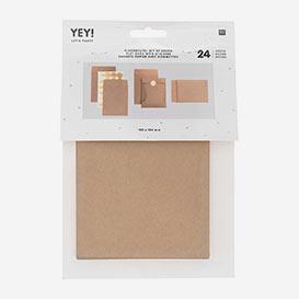 Papiertütchen Braun mit goldenen Stickern S – Set mit 24 Stk>     </noscript> </div>          <div class=