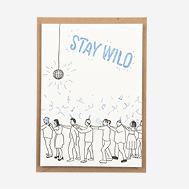 Stay Wild Letterpress Postcard>     </noscript> </div>          <div class=