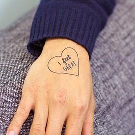 Temporary Tattoo I Feel Great>     </noscript> </div>          <div class=
