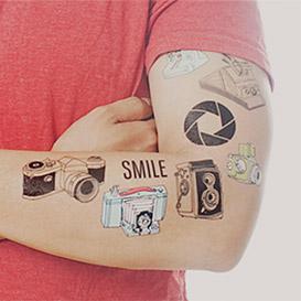 Photography Temporary Tattoo Set>     </noscript> </div>          <div class=