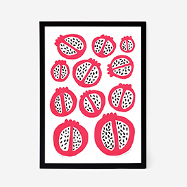 Pomegranates Screenprint>     </noscript> </div>          <div class=