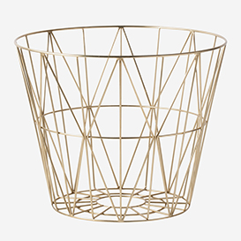 Wire Basket Large Brass>     </noscript> </div>          <div class=