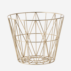 Wire Basket Medium Brass>     </noscript> </div>          <div class=