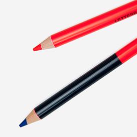 Zweifarbiger Buntstift Rot / Blau>     </noscript> </div>          <div class=