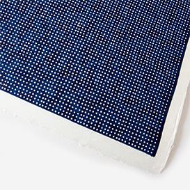 Yuzen-Papier Punkte auf Blau>     </noscript> </div>          <div class=