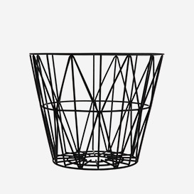 Wire Basket Medium Black>     </noscript> </div>          <div class=