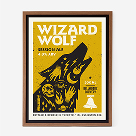 Wizard Wolf Siebdruck>     </noscript> </div>          <div class=