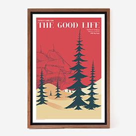 The Good Life Siebdruckposter>     </noscript> </div>          <div class=