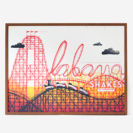 Alabama Shakes XL Screenprint Poster>     </noscript> </div>          <div class=