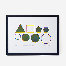Geometric Evolution Linocut Print>     </noscript> </div>          <div class=
