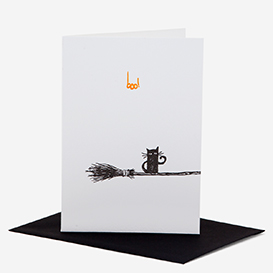 Black Cat Letterpress Halloween-Karte>     </noscript> </div>          <div class=