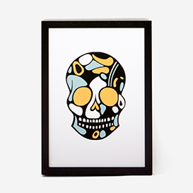 Calavera Gold Green Rust #4 Screenprint>     </noscript> </div>          <div class=