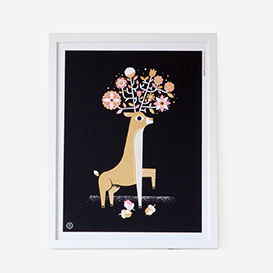 Black Bouquet Deer Screenprint>     </noscript> </div>          <div class=