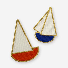 Blanca Gomez Sailboats Iron-On Patch>     </noscript> </div>          <div class=