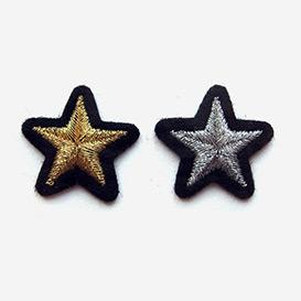 Bügel-Aufnäher Sterne Silber Gold>     </noscript> </div>          <div class=