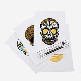 Calavera Gold Green Rust Screenprint Set>     </noscript> </div>          <div class=