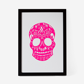 Calavera Pink Mint #2 Screenprint>     </noscript> </div>          <div class=