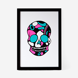 Calavera Pink Mint #4 Screenprint>     </noscript> </div>          <div class=