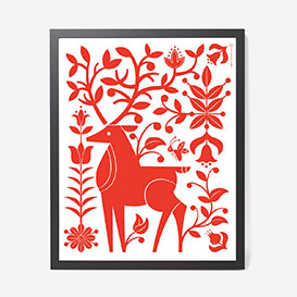 Deer Red - Screenprint>     </noscript> </div>          <div class=