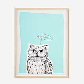 Owl - Turqouise Screenprint Poster>     </noscript> </div>          <div class=