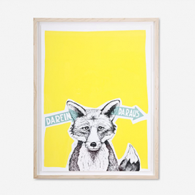 Fox - Darein Daraus - Yellow Screenprint Poster>     </noscript> </div>          <div class=