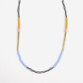 Halskette Colourblock Mustard &amp; Pink>     </noscript> </div>          <div class=