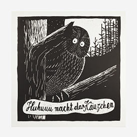 Screech Owl Screenprint - Large>     </noscript> </div>          <div class=