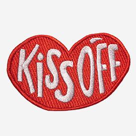 Kiss Off Bügel-Aufnäher>     </noscript> </div>          <div class=