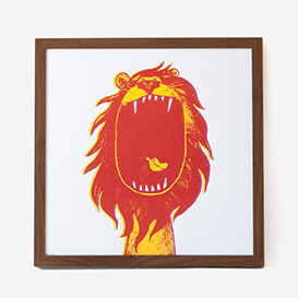 Lion Screenprint Poster>     </noscript> </div>          <div class=