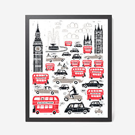 London Traffic Screenprint Poster>     </noscript> </div>          <div class=