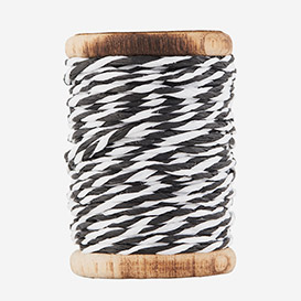 Twisted Paper Cord Black White>     </noscript> </div>          <div class=