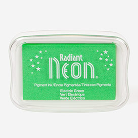 Radiant Neon Electric Green Stempelkissen>     </noscript> </div>          <div class=