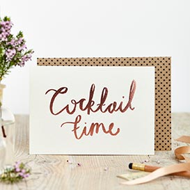 Rose Foil Cocktail Time Greeting Card >     </noscript> </div>          <div class=